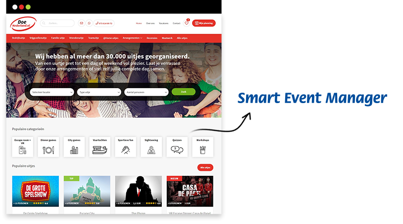 DoeNederland Smart Event Manager koppeling