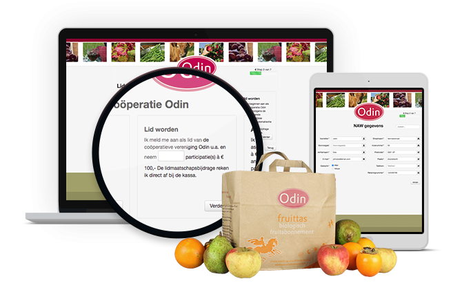 Odin Ledenadministratie web applicatie