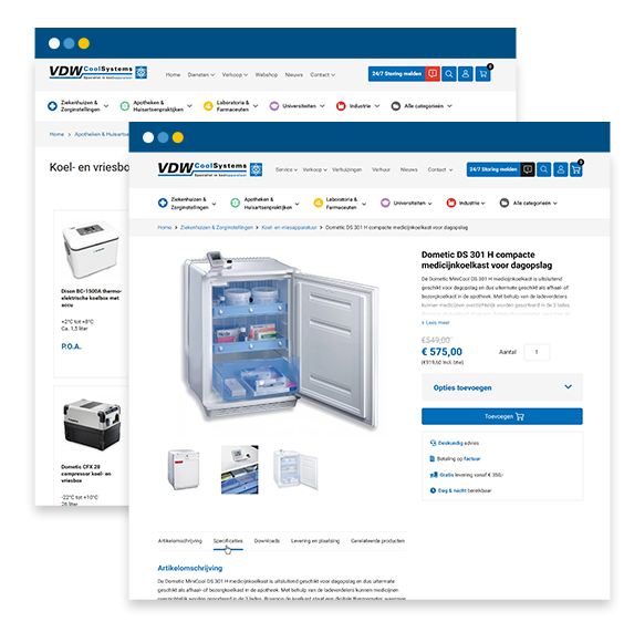 VDW Coolsystems webshop