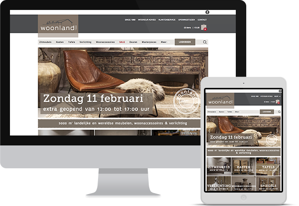 Woonland - Website responsive